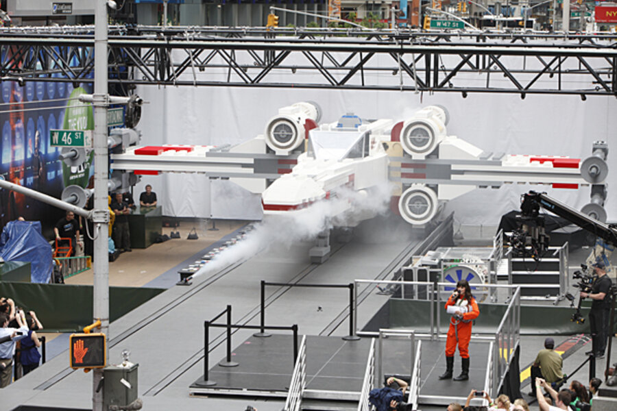 World's largest LEGO sculpture? 'Star Wars' X-wing fighter