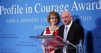 Gabrielle Giffords receives Profile in Courage award