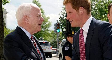 Prince Harry begins US visit with Michelle, McCain, and moms