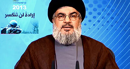 Hezbollah leader vows victory in Syria for Assad