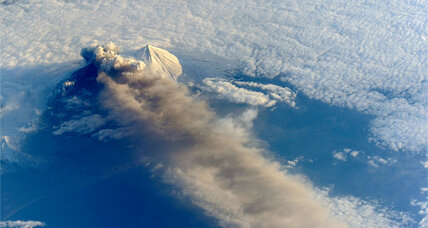 Alaska volcano spews five-mile-high ash plume
