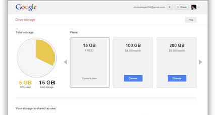 Google does away with individual storage caps for Drive, Gmail