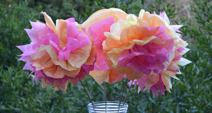 Mother's Day arts and crafts idea: Tissue paper flowers