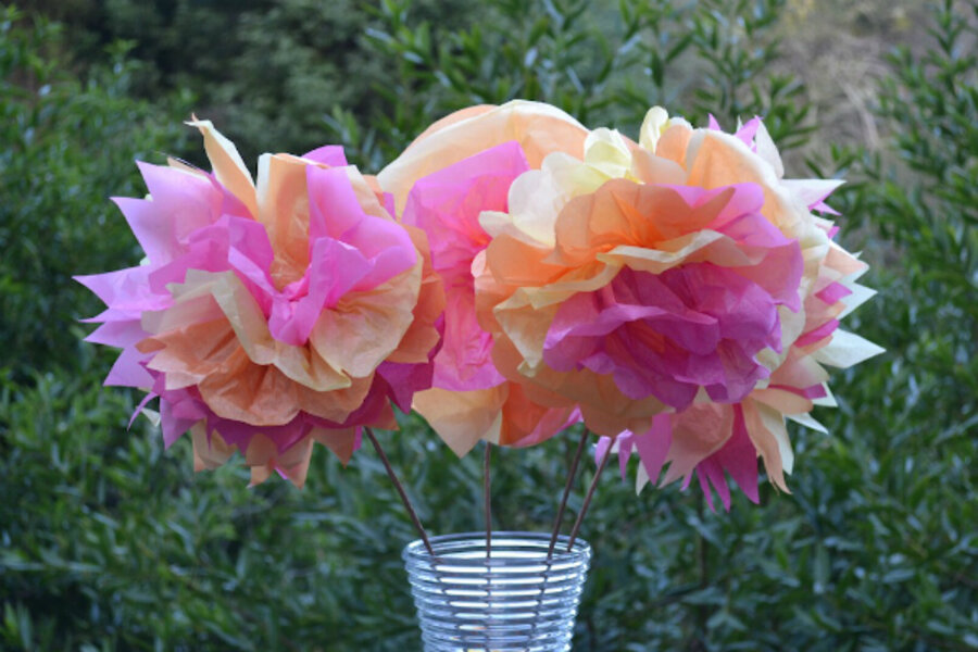 Mothers Day Arts And Crafts Idea Tissue Paper Flowers