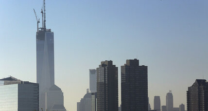 New York's One World Trade Center is topped off with spire