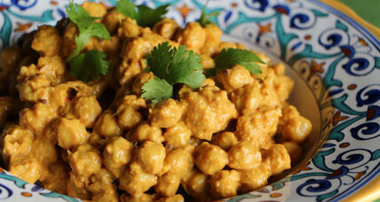 Indian chickpeas and mango lassis