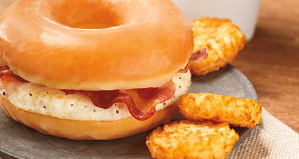 Dunkin' Donuts doughnut bacon sandwich hits US stores