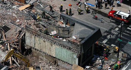 Philadelphia building collapse: Rescuers dig through rubble