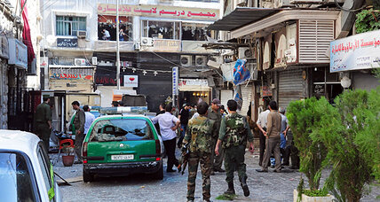 Double suicide bombings brings war back to Damascus streets