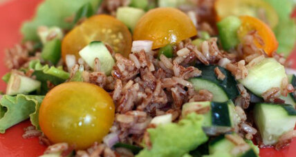 Too hot to cook? Almost no-cook harvest red rice salad