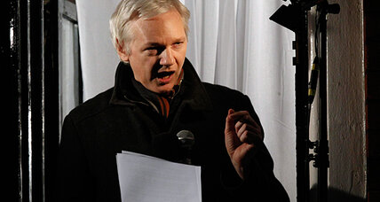 Sound advice? Assange advises Snowden to seek refuge in Latin America.
