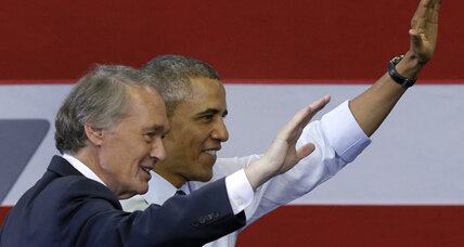Obama in Boston as Markey calls on party's big guns to fend off Gomez (+video)