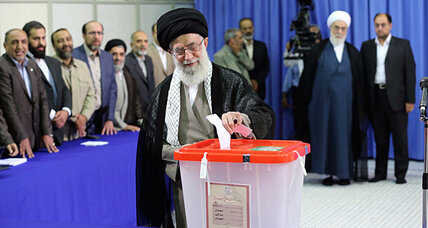 Iran's supreme leader pushes Iranians to vote in defiance of US