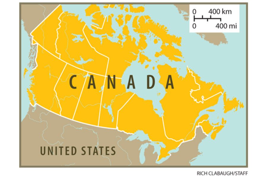 Provinces - Political map of canada quiz