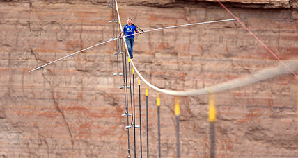 Grand Canyon tightrope walk: What was that huge pole for?