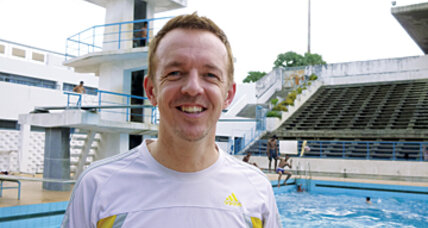 David Hunt saves lives by teaching swimming in Cambodia