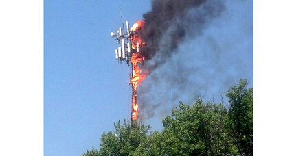 Bensalem tower fire: Crews dismantle cell tower that caught fire in Pa.