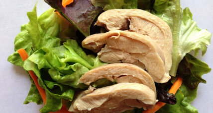 Lemongrass tea-poached chicken