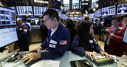 Stocks fall in end to a rocky month