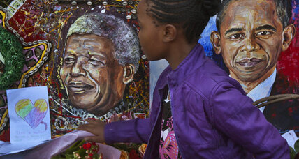 Nelson Mandela: Obama meets Mandela family, police disperse protesters