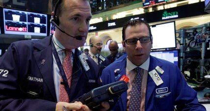 Stocks plunge Friday, but end up positive for May