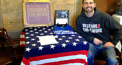 Scott Zabelski found T-shirts were a perfect fit for hurricane Sandy relief