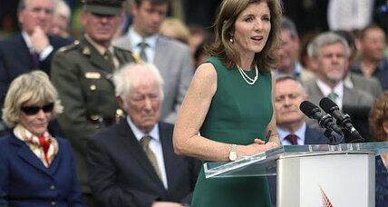 Caroline Kennedy lights memorial flame in Ireland
