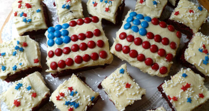 Fourth of July recipe: Red velvet flag brownies