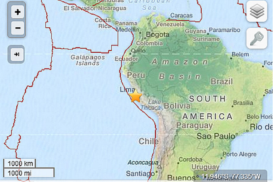 Peru Earthquake Small Offshore Earthquake Rumbles Lima - Where is peru