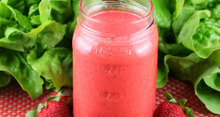 Strawberry mint vinaigrette
