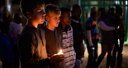 Mandela prayer vigil turns political