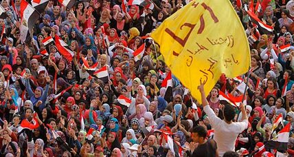 Egypt faces showdown in the streets as Morsi weighs options