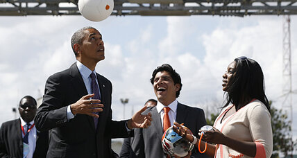 Tanzania: Obama kicks soccer ball, generates power
