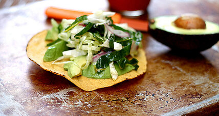 Meatless Monday: Tostadas with chard slaw