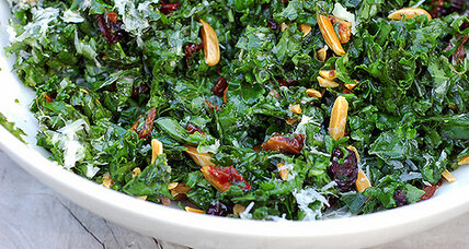 Citrus-massaged kale salad