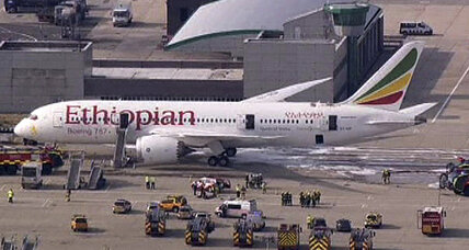 Dreamliner fire disrupts Heathrow Airport; Boeing shares plunge
