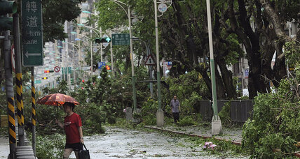 Typhoon forces mass evacuations in China, kills 1 in Taiwan