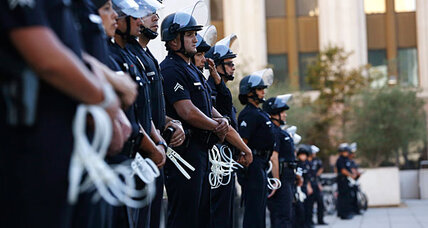 Zimmerman verdict protests: Los Angeles police get 'A-plus'