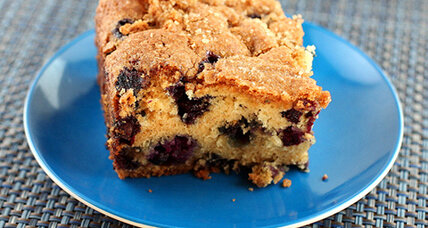 Blueberry vanilla buttermilk cake