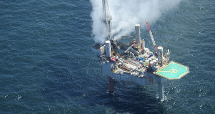 Rig blowout: Gulf of Mexico natural gas well catches fire