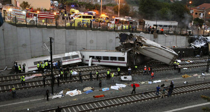 On eve of holiday, deadly train crash in Santiago shatters Spain
