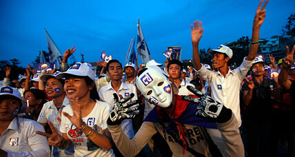 Young Cambodians take to the streets ahead of Sunday's election
