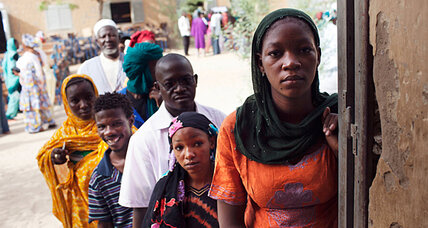 On voting day, a cry from Timbuktu: 'We want peace' (+video)