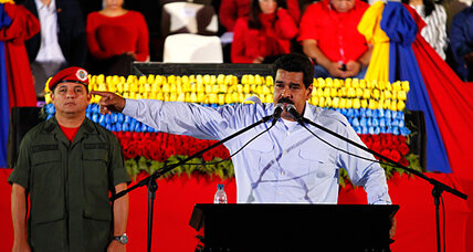 On Chávez's birthday, Venezuela's new leader still lives in his shadows