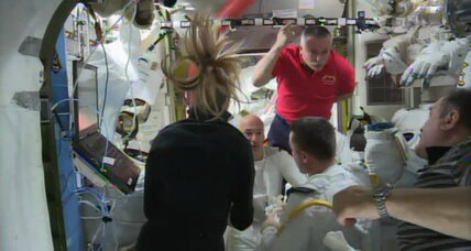 NASA terminates spacewalk following leak into astronaut's helmet