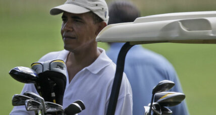 For Obama, Bush, Reagan, no vacation from politics