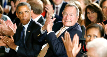 Obama, George H.W. Bush celebrate the 5,000th 'point of light'