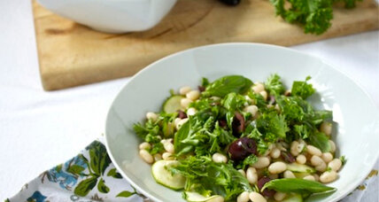 White bean and olive salad with fresh herbs