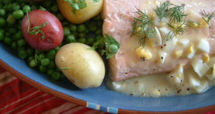 Fourth of July supper: New England poached salmon