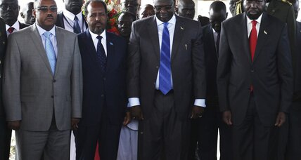 Why did South Sudan's president dissolve his government?